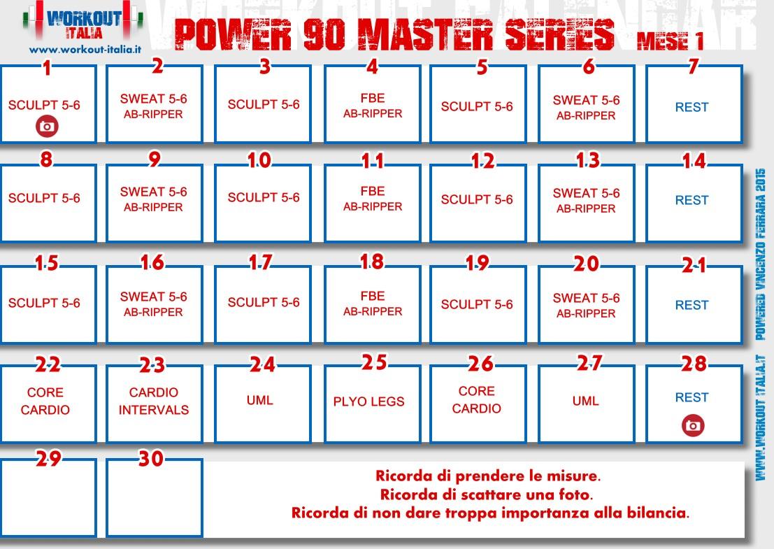 Power 90 Master Series Workout Workout Italia