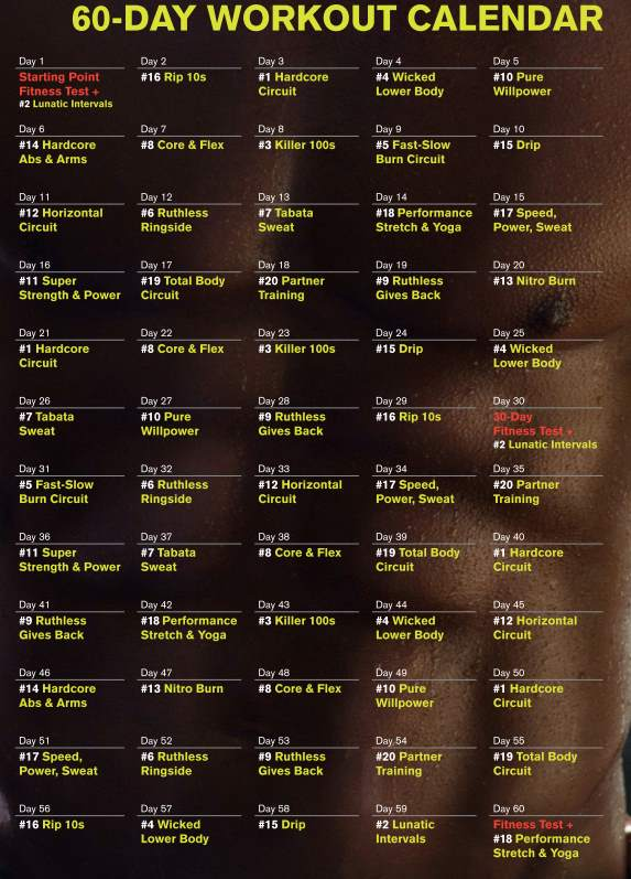 ruthless and ufc workout calendar calendar template 2016