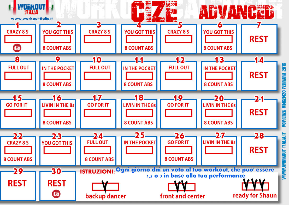 insanity printable calendar for recording results pdf