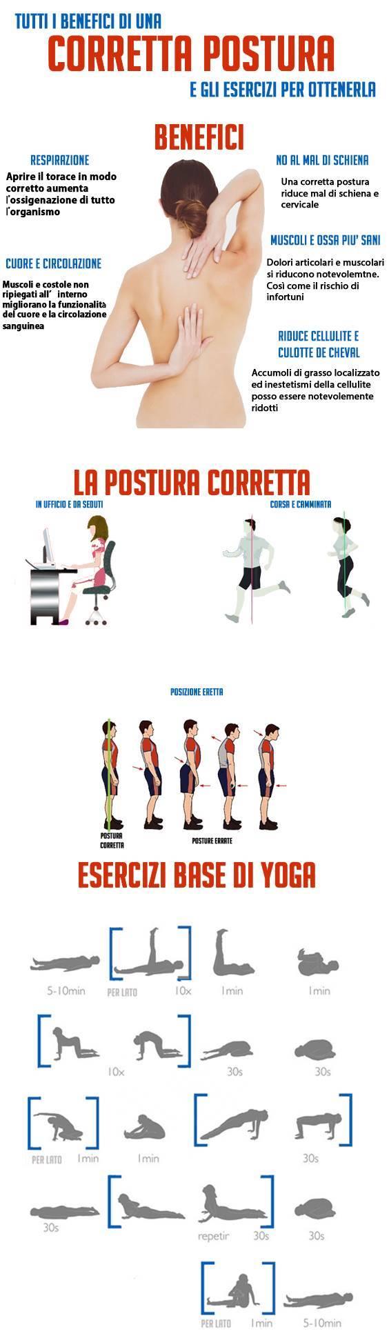 scheda postura corretta