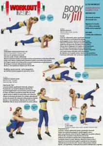 scheda workout total body jillian michaels  workoutitalia