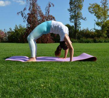 posizione della ruota yoga