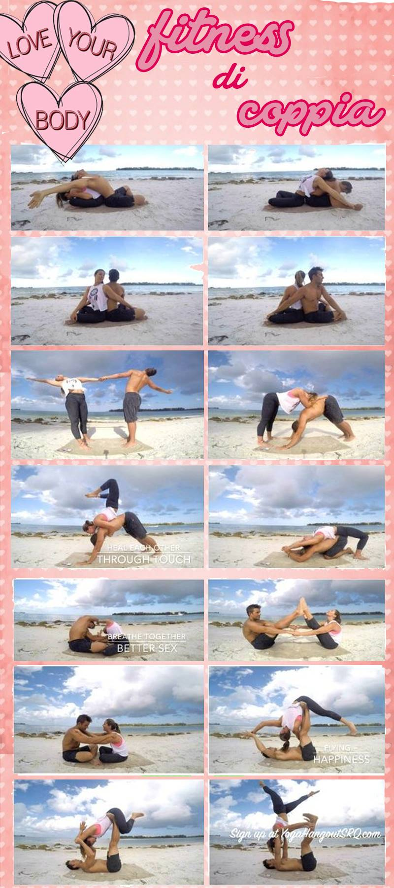 Love workout yoga in coppia
