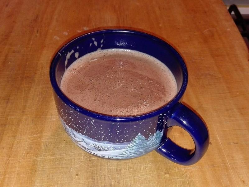 cioccolata calda proteica