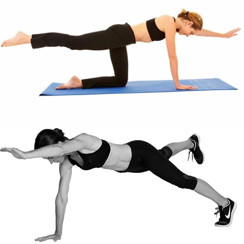 Esercizi per rinforzare la schiena superman plank