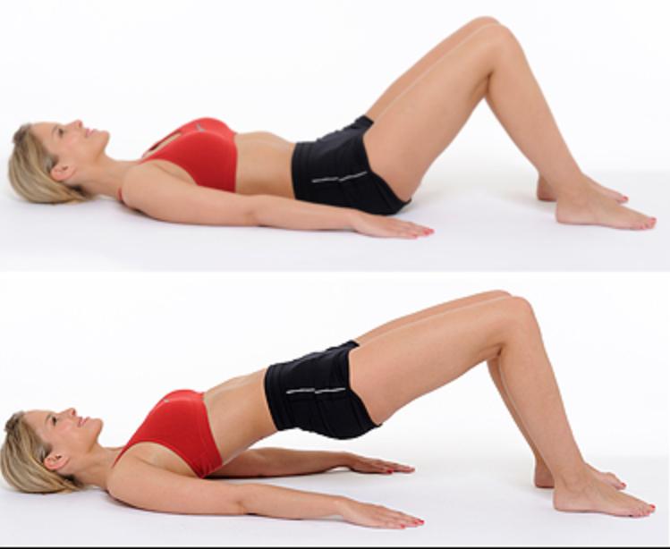 esercizi per rinforzare la schiena Ponte
