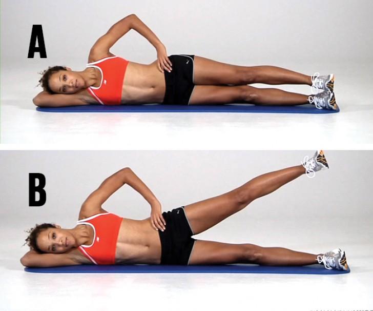 esercizi per rinforzare la schiena sollevamenti lateralijpg