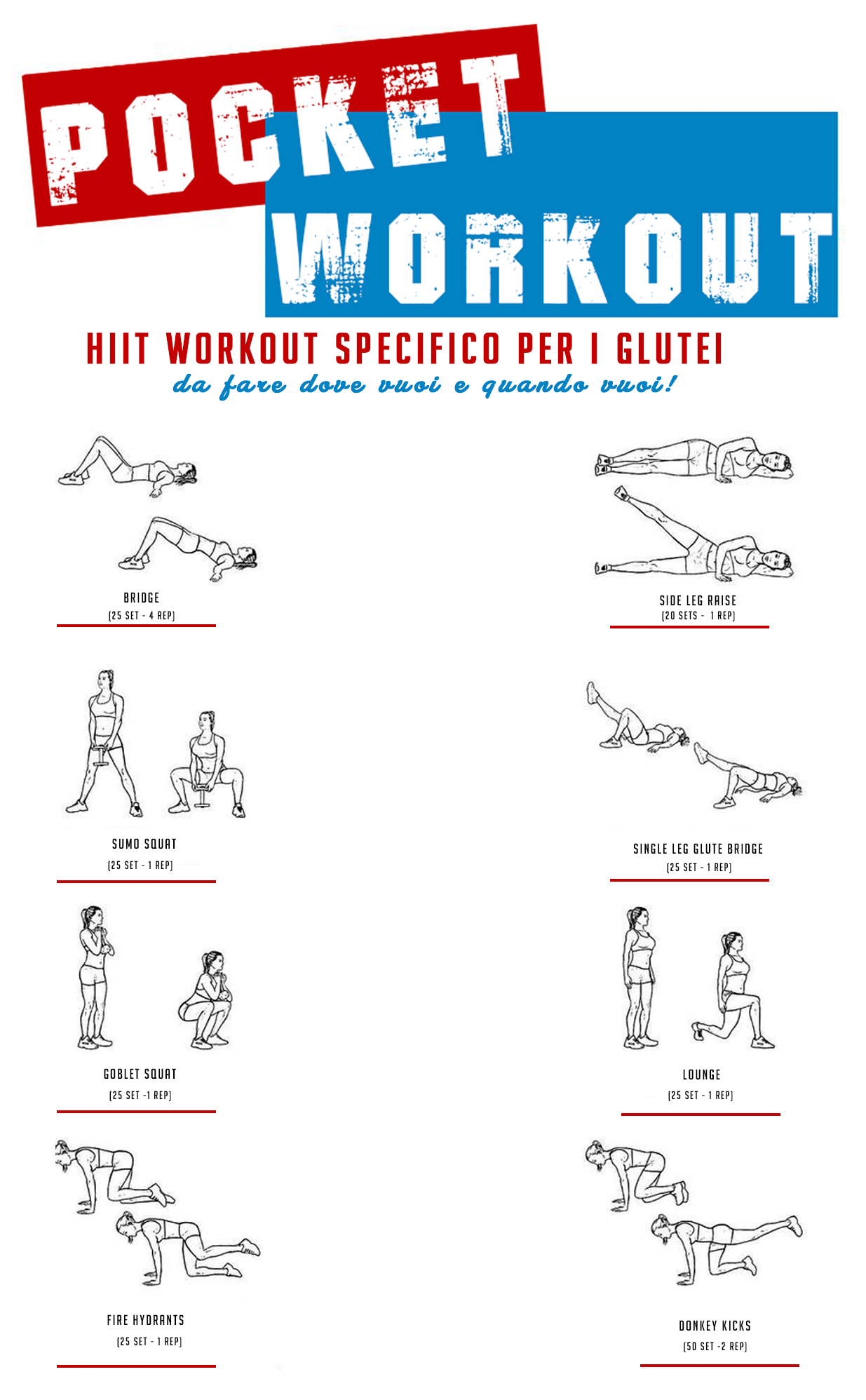 Pocket workout glutei